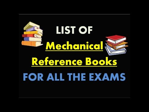 Mechanical Engineering reference books || MUST WATCH