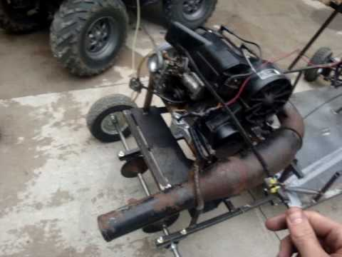 Testing the new go kart 540 snowmobile engine for sale for Motor go kart for sale