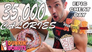 Epic Cheat Day | 35,000 CALORIE CHEAT DAY MOVIE P.2 | Ep.41