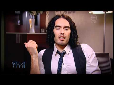 Russell Brand interview on The 7pm Project (Australia) - Arthur