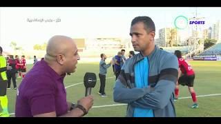 لقاء/ سامي قمصان المدير الفني لفريق حرس الحدود بعد فوز على نادي طنطا في كأس مصر 2-0 - المقصورة
