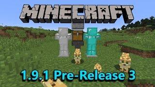 Minecraft 1.9.1 Pre 3- LOLCAT Language, Elytra Sounds