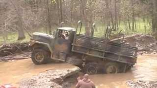 Military 6x6 truck tries the waterfall  DTOR - Birthday Bash III