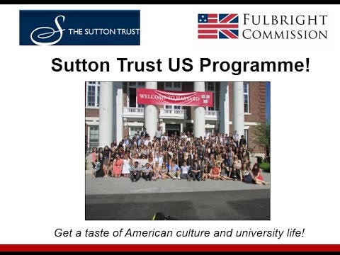 Sutton Trust US Programme + Undergraduate Study in the USA Webinar