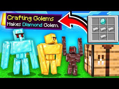 ماين كرافت اقدر اصنع القولم من الموارد!😱 (أغراض رهيبة!)🔥 - Crafting Golems