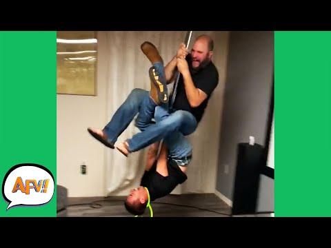 One Pole, TWO FAILS! 😅 | Funniest Fails | AFV 2020