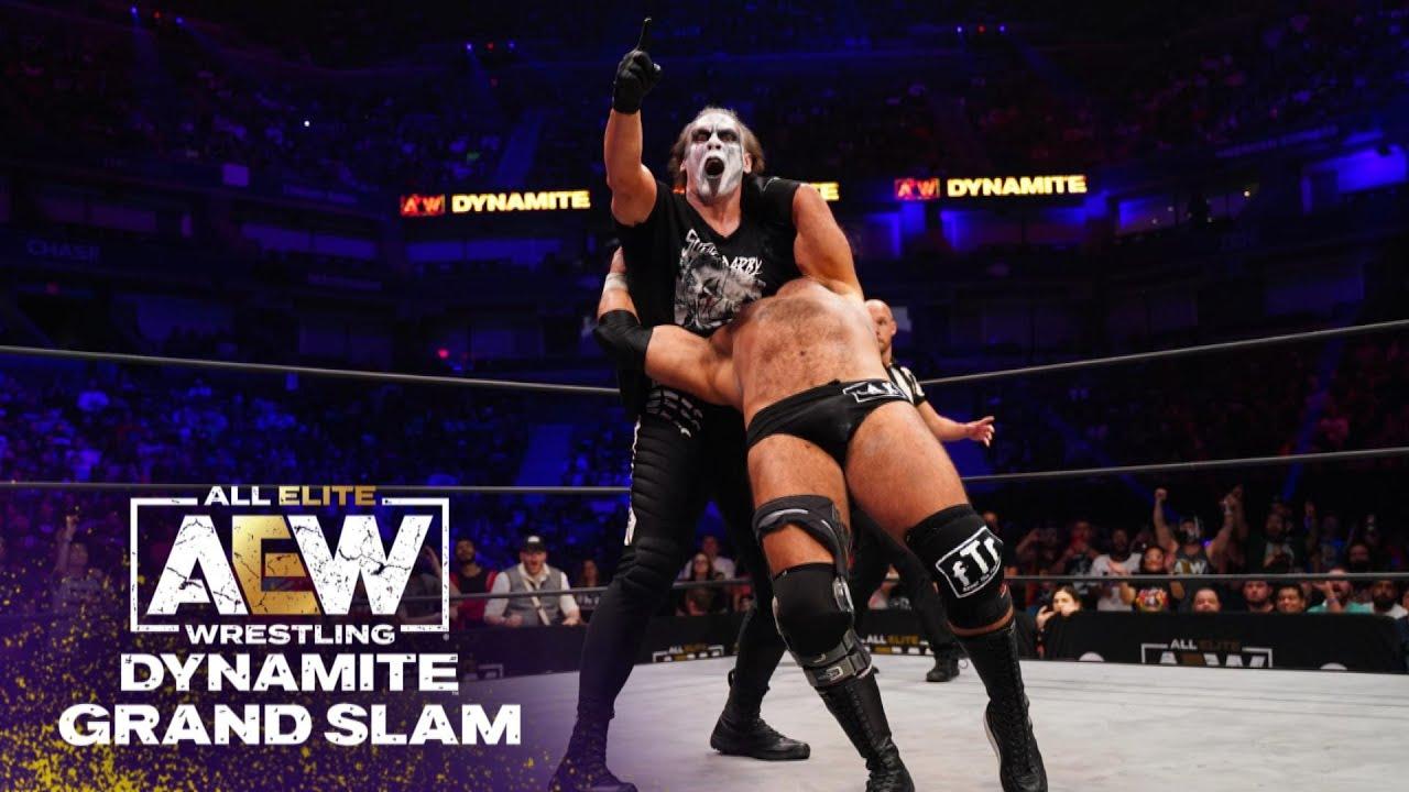 The Icon Sting & Darby Allin Shine Bright in New York City   AEW Dynamite Grand Slam, 9/22/21