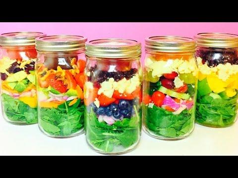 Healthy Salad in a Jar Recipes   QUICK EASY HEALTHY