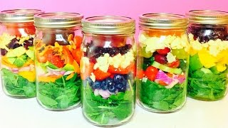 Healthy Salad In A Jar Recipes | Back To School