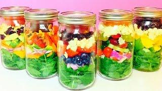 Healthy Salad in a Jar Recipes | QUICK EASY HEALTHY