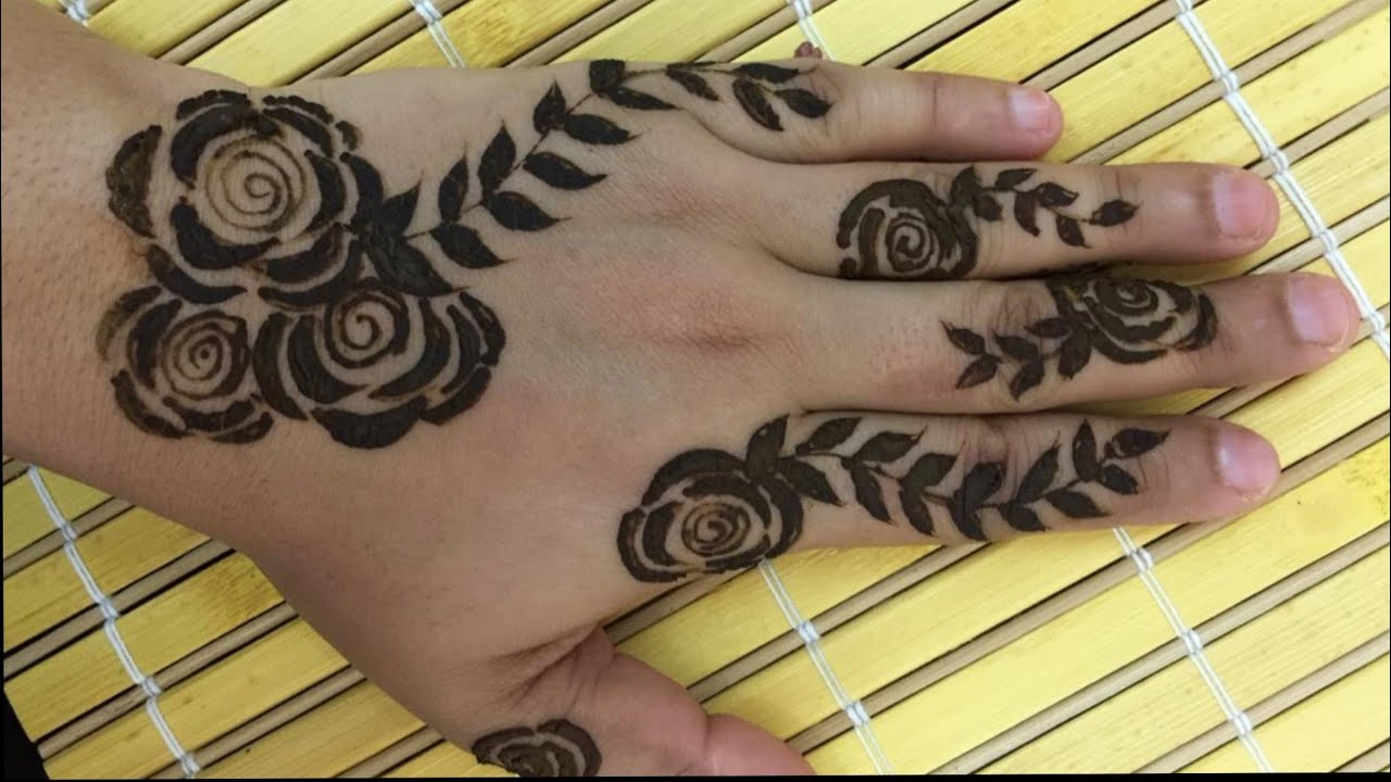 Stylish Arabic Henna Design Simple Rose Design Youtube