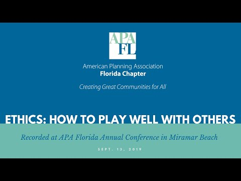 How To Play Well With Others | 2019 Florida Planning Conference