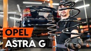 Montaje Muelles de Suspensión traseras izquierda derecha OPEL ASTRA G Hatchback (F48_, F08_): vídeo gratis