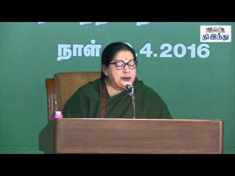 """Tamilnadu Will be Liquor Free"" - Jayalalitha Starts her Election Campaign 