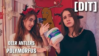 [DIT] How to make DEER ANTLERS | Оленьи рога | POLYMORFUS