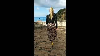 Обзор шелковой юбки с леопардом и водолазки с Алиэкспресс