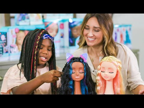 paisley-learns-to-braid-on-our-new-cute-girls-hairstyles-styling-heads!