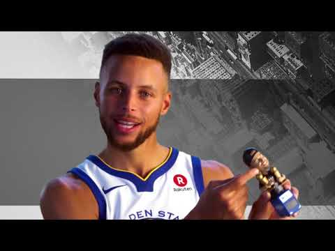 Stephen Curry Evaluates his Bobblehead