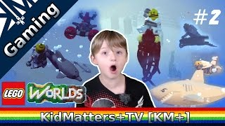 Lego Worlds - Riding Sea Creatures and More. Part #2 [KM+Gaming S01E31]