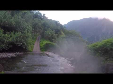 Polynésie française Route dans  Papenoo, Gopro / French Polynesia Papenoo valley return
