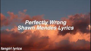 Perfectly Wrong || Shawn Mendes Lyrics