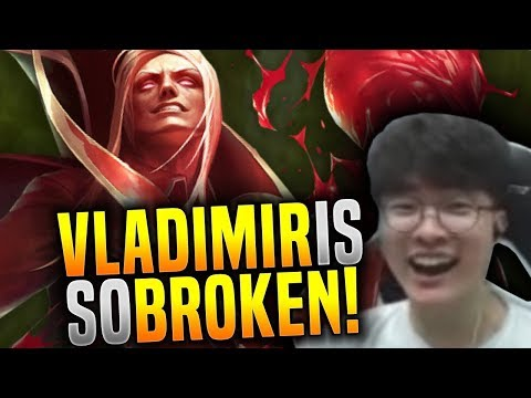 Faker Knows that Vladimir is Broken Now! - SKT T1 Faker SoloQ Playing Vladimir Mid! | SKT T1 Replays