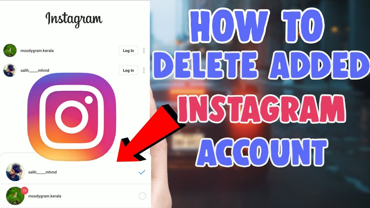 how to delete second instagram account