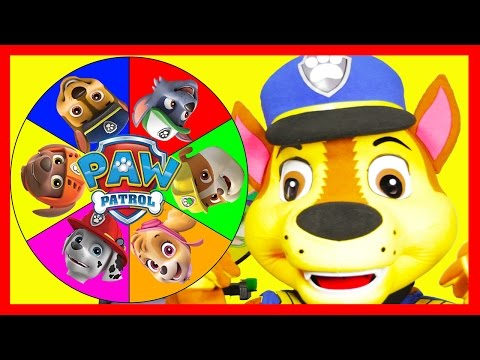 The Paw Patrol Game with Chase In Real Life - Mashems, Slime, Superheroes and Toys - Spin the Wheel |