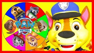 the paw patrol game with chase in real life mashems slime superheroes and toys spin the wheel