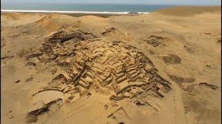 """Hallan entierros de élite en """"El Áspero"""" puerto pesquero de Caral"""