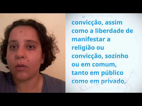 Tâmara Ferreira Marques, Brazil, reading article 18 of the Universal Declaration of Human Rights