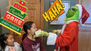 The Grinch SMASHED a Cake in My Face!  Christmas Cake for Charity  Christmas Cake Challenge!