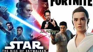 JJ Abrams Host Fortnite Premier Of Star Wars: Rise Of SkyWalker Trailer. Lightsaber Gameplay.