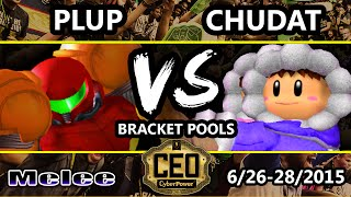CEO 2015 - Plup (Samus) Vs. Chudat (Ice Climbers) SSBM Bracket Pools WF - Smash Melee