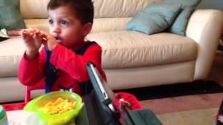 Alex Eating Mac & Cheese!