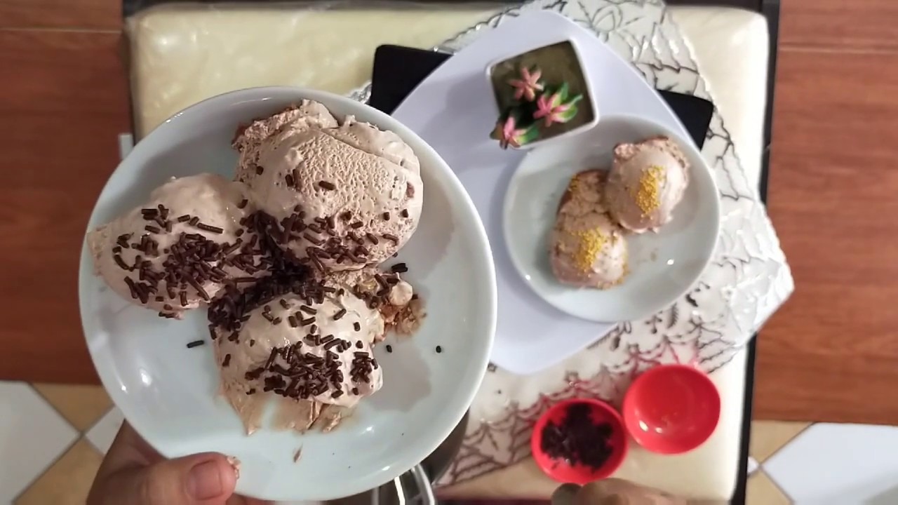 Resep Ice Cream Comil (Coklat Milo) ala Mamtik - YouTube