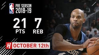 Taj Gibson Full Highlights Timberwolves vs Bucks - 2018.10.12 - 21 Pts, 7 Rebounds!