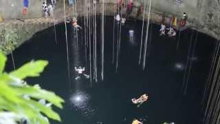 メキシコ編25話 チチェンイッツァ近くのセノーテを発見!Cenote Ik kil おもいっきり世界一周!自転車一人旅