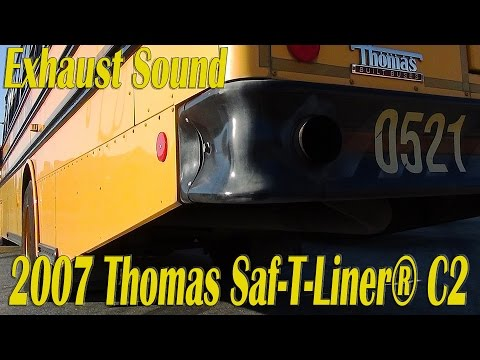 exhaust sound 2007 thomas saf t liner c2 bus 0521. Black Bedroom Furniture Sets. Home Design Ideas