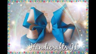 Moño de listón de dos colores / ribbon bow step by step