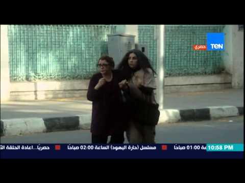 مسلسل أرض النعام - رد فعل المارة على تناول سوسن بدر الطعام في نهار رمضان ... يا فاطرين حرام عليكم