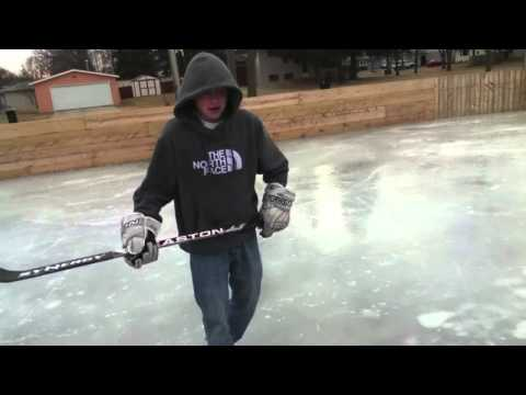 Dumb Kid Tries to Break Hockey Stick