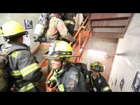 Firefighter climb stairs to remember fallen heroes