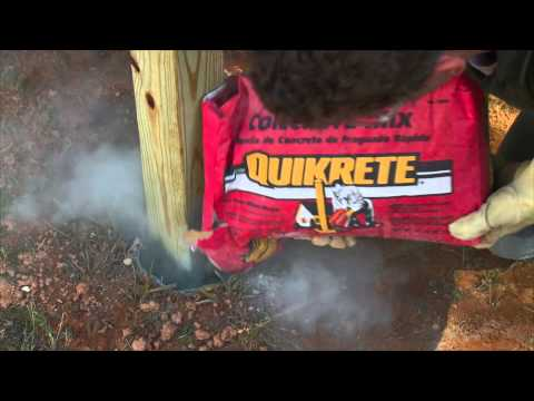 QUIKRETE Fast-Setting Concrete Mix (Product Feature)