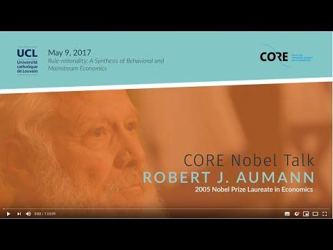 CORE Nobel Talk: Robert J. Aumann on Rule-rationality