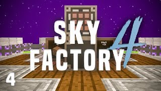 SkyFactory 4 Ep. 4 Simple Storage Network + Nether