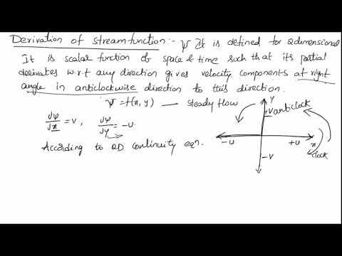 Derivation Of Stream Function    FLUID MECHANICS