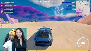 FlightReacts Girlfriend Pulled up on him while playing fortnite with the homies & then...