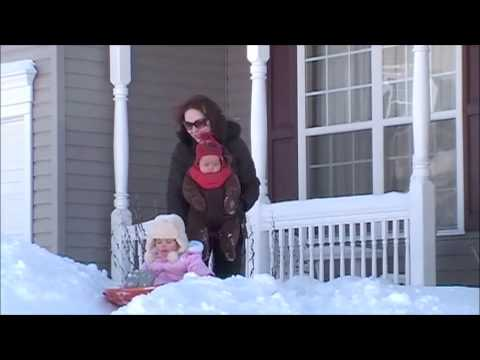 QVC Host Sharon Faetsch and her daughter enjoy a snow day