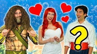 ARIEL MARRY AQUAMAN OR PRINCE ERIC? (After Ursula Puts a Spell on Ariel) Totally TV